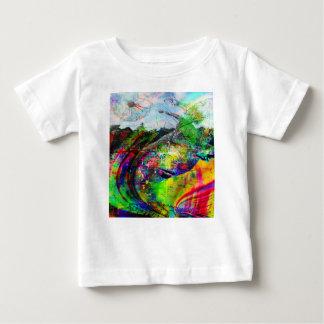 Camiseta Para Bebê Fantasia tropical abstrata