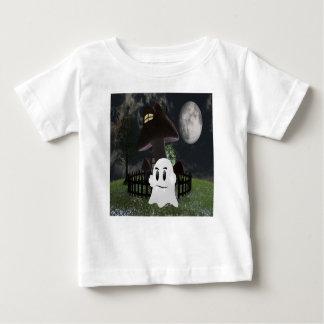 Camiseta Para Bebê Fantasma assustador do Dia das Bruxas