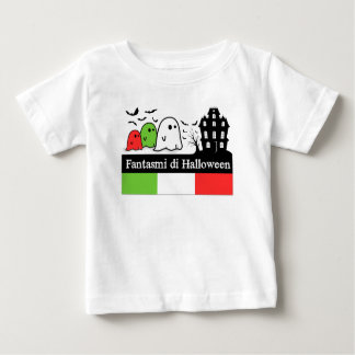 Camiseta Para Bebê Fantasmas do Dia das Bruxas do italiano, Fantasmi