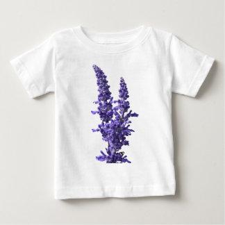 Camiseta Para Bebê farinha do sábio azul na flor no primavera