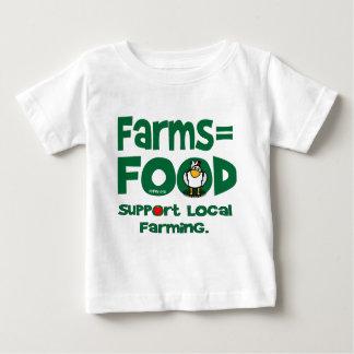 Camiseta Para Bebê Farms=Food