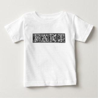 Camiseta Para Bebê FART a piada bruta do humor engraçado extravagante