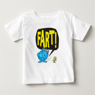 Camiseta Para Bebê FART (branco)