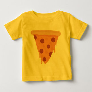 Camiseta Para Bebê Fatia da pizza
