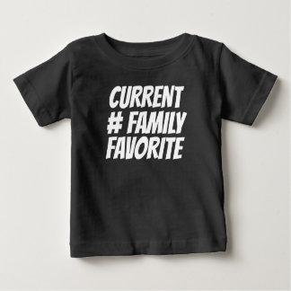 Camiseta Para Bebê Favorito - t-shirt fino do jérsei do bebê