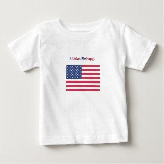 Camiseta Para Bebê Faz-me a bandeira americana feliz