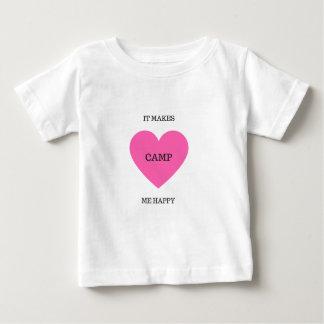 Camiseta Para Bebê Faz-me o acampamento feliz