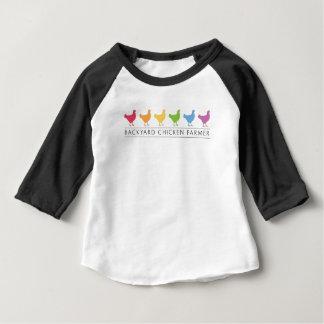 Camiseta Para Bebê Fazendeiro da galinha do quintal