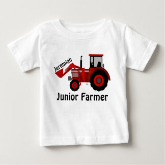 """Camiseta Para Bebê """"Fazendeiro júnior personalizado"""" e trator"""