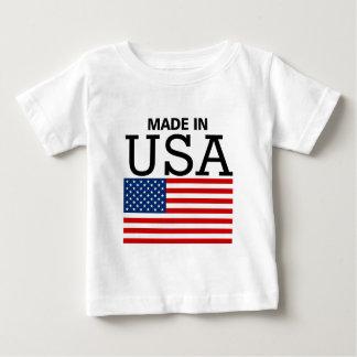 Camiseta Para Bebê Feito na bandeira dos EUA E.U.