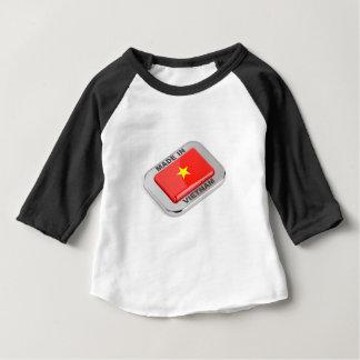 Camiseta Para Bebê Feito no crachá brilhante de Vietnam