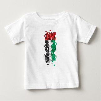 Camiseta Para Bebê Feito nos UAE, bandeira abstrata dos UAE, árabe