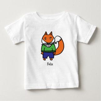 Camiseta Para Bebê Felix personalizado o Fox