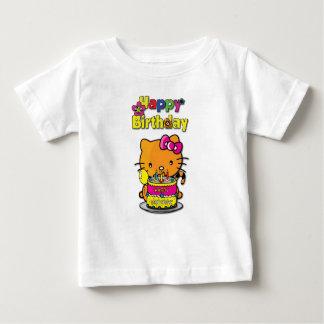 Camiseta Para Bebê feliz aniversario