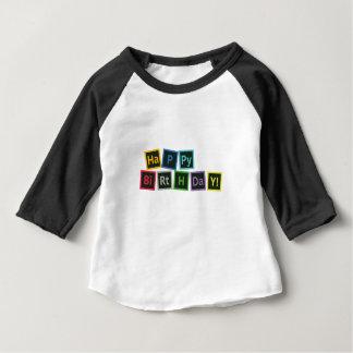 Camiseta Para Bebê Feliz aniversario periódico