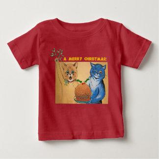 Camiseta Para Bebê Feliz Natal do #holidayz dos gatos