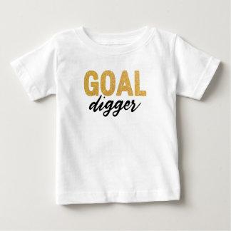 Camiseta Para Bebê Feminismo do escavador do objetivo