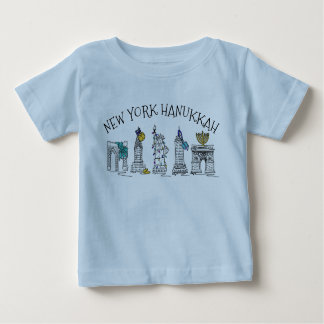 Camiseta Para Bebê Feriado judaico Chanukah de Hanukkah NYC da Nova