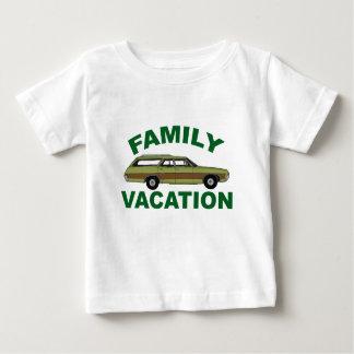 Camiseta Para Bebê férias em família 80s