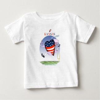 Camiseta Para Bebê fernandes tony altos e orgulhosos de kansas,