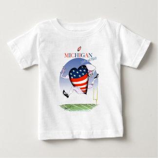 Camiseta Para Bebê fernandes tony altos e orgulhosos de michigan,