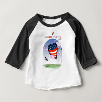 Camiseta Para Bebê fernandes tony altos e orgulhosos de North Dakota,
