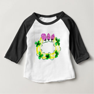 Camiseta Para Bebê Ferradura com trevo