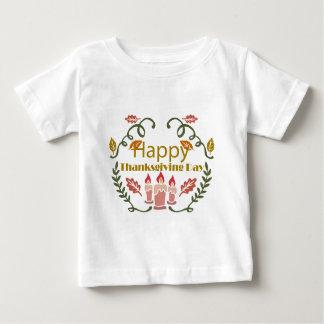 Camiseta Para Bebê Festival feliz da queda da acção de graças