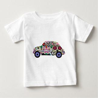 Camiseta Para Bebê Fiat clássico com crânios do açúcar