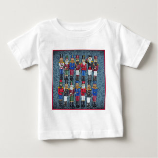 Camiseta Para Bebê Figuras do natal vintage, soldados idosos