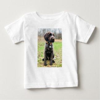 Camiseta Para Bebê Filhote de cachorro apontar Griffon Wirehaired
