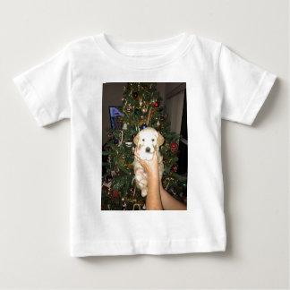 Camiseta Para Bebê Filhote de cachorro de GoldenDoodle com árvore de