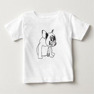 Camiseta Para Bebê Filhote de cachorro do buldogue francês que tira o
