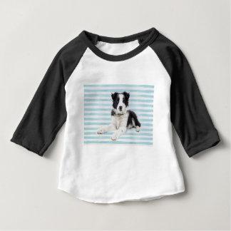 Camiseta Para Bebê Filhote de cachorro do cão do Collie
