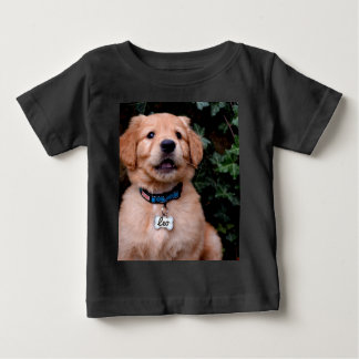 Camiseta Para Bebê Filhote de cachorro do golden retriever
