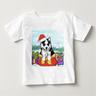 Camiseta Para Bebê Filhote de cachorro do Malamute do Alasca