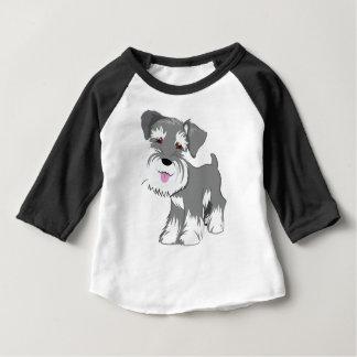 Camiseta Para Bebê Filhote de cachorro do Schnauzer diminuto