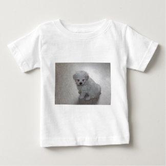 Camiseta Para Bebê filhote de cachorro maltês
