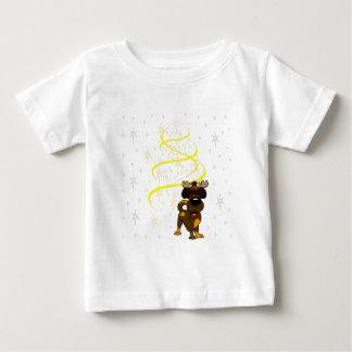 Camiseta Para Bebê Filhotes de cachorro do Natal