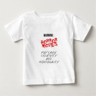 Camiseta Para Bebê Filmes de terror