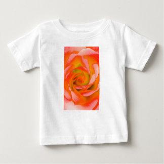 Camiseta Para Bebê Fim-acima cor-de-rosa da laranja