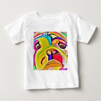 Camiseta Para Bebê Fim-acima do buldogue