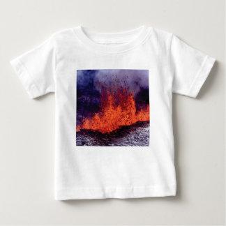 Camiseta Para Bebê fissura da rachadura da lava