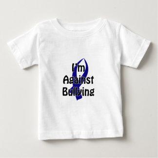 Camiseta Para Bebê Fita azul Anti-Tiranizando