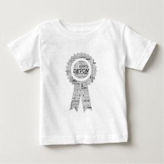 Camiseta Para Bebê Fita da mostra do cavalo de Devon
