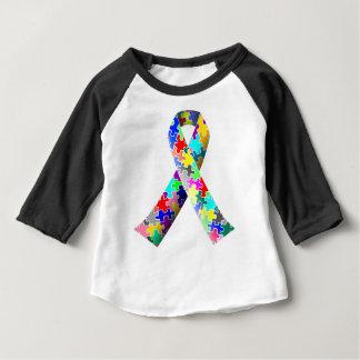 Camiseta Para Bebê Fita do quebra-cabeça do autismo