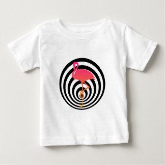 Camiseta Para Bebê Flamingo bonito nos círculos