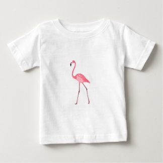 Camiseta Para Bebê Flamingo cor-de-rosa bonito