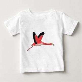 Camiseta Para Bebê Flamingo voa