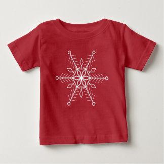 Camiseta Para Bebê Floco de neve